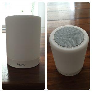 Tragbarer Bluetooth LED Lamp Speaker PPA44BT W PEAQ