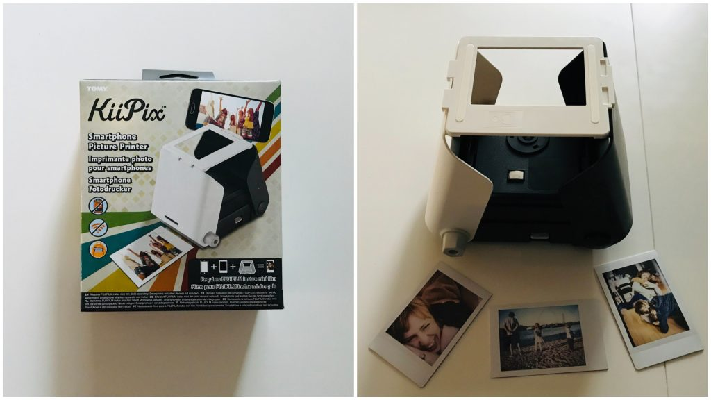 Smartphone Fotodrucker Kiipix Lächeln Und Winken