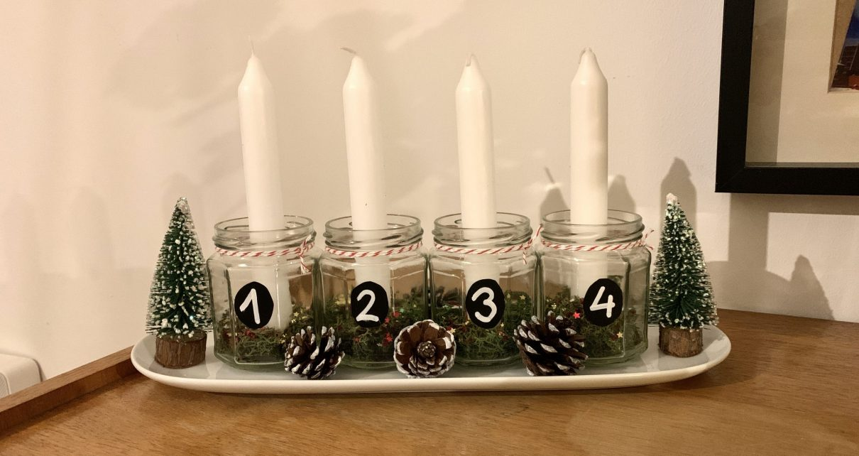 DIY Adventsgesteck